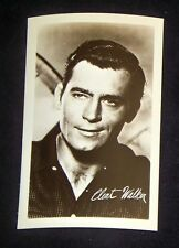 Clint Walker 1940's 1950's Actor's Penny Arcade Photo Card