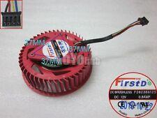 HD5870 graphics card fan FirstD FD9238H12S 12V 0.8A dual ball thermostat 4-Pin