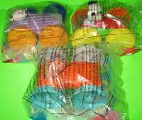 3 McDonalds 101 Dalmatians Flip Car Toys Pig Snake Puppy Dog Disney 1998 New MIP