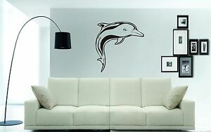 DOLPHIN (Large) Wall Art Sticker, Decal, Mural, 70 x 50cms - great for any wall