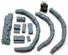 1/35 Sandbag Walls (Curved Emplacements) - Value Gear Details DP004
