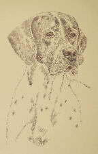 Pointer English Dog Art Print #40 Kline adds dogs name free Word Drawing gift