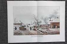 Dampf-Badeanstalt Russland Bauern FARBDRUCK von 1912 Dampfbad