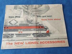 Catalogo The New LIONEL Accessories 1956  24 Pagine lingua: Inglese