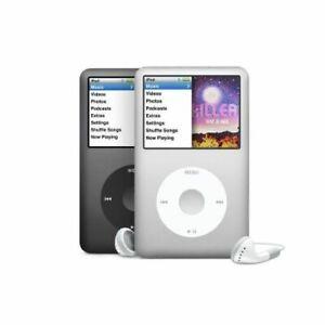 Apple iPod Classic 7th Generation, Silver / Black, 120Gb / 160Gb -  WARRANTY