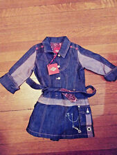Oilily denim dress, new size 4y , 104 nwt