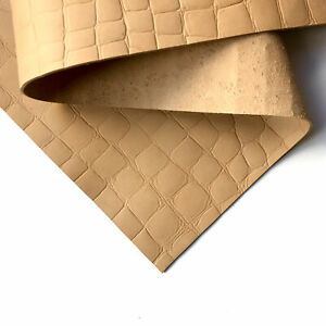 Crocodile print VEG TAN Sheets 8x10in/20x25cm 2.5oz/.0mm tanned tooling leather