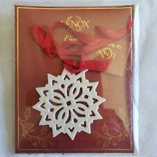Lenox Christmas Porcelain Pierced Snowflake Charm Ornament