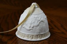 Lladro 1989 Annual Bell Ornament with Color Matching Ribbon Hand Made in Spain