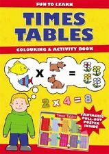 A4 Learn Times Tables Colouring Activity Book Great Home Learning Games Crafts
