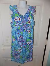 Lilly Pulitzer Blue May Flower Sundress Size XL (12/14) Girl's EUC HTF