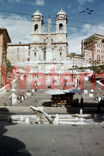 Vtg Spanish Steps Rome Italy 1954 Red Border Kodak 35mm Slide