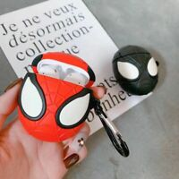 Cool 3D Spiderman Earphone Cover for Apple Airpods Charging Case Holder Bag Skin