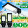 966000LM 966 LED Solar Street Light PIR Motion Sensor Outdoor Wall Lamp+Remote