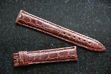 Perrin-Tiffany Custom 16mm Crocodile Watch Strap Brown