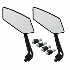 Pair Black Motorcycle Side Rear View Mirror For Harley-Davidson FXDL FLHR FLHTC