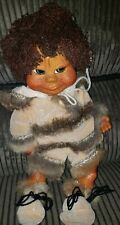 Vintage 1994 Naber Baby Ivan Wood Doll Eskimo With Tag #24