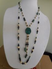 """Vintage Venetian Murano made in Italy 2 strand necklace, 32"""""""