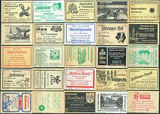 25 alte Gasthaus-Streichholzetiketten aus Deutschland #55