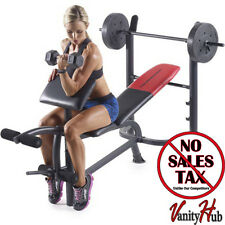 Workout Bench Weight Set Exercise Training Abs Lifting Fitness Gym Equipment