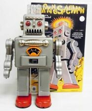 Robot - Robot Marcheur à Pile en Tôle - Smoking Space Man Gris (Ha Ha Toys) TR20