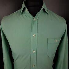 Hugo Boss ORANGE Mens Casual Shirt SMALL Long Sleeve Green Regular Fit Striped