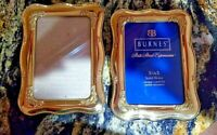 Burnes of Boston State Street 3 1/2x5  Brass Picture Frames Set 2 Lacquer Coated