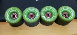 PUNKED Speed Cruiser 62mm 4mm Contact 78a Longboard Wheels W/ Bones Reds Bearing