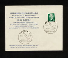 (RUCO 350) Germany (DDR) 1962 revolution Kreis - Briefmarkenausstellung Rocket
