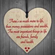 More To Life Inspiration Friendship Family Gift Hanging Plaque Best Friends Sign