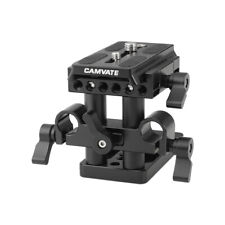 CAMVATE Manfrotto Mount Base plate QR 15mm LWS Rod Clamp for DSLR Camera Tripod