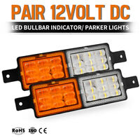 Pair Bull Bar Front LED Indicator SUBMERSIBLE FM850 12V Park Light Side Marker