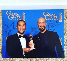 John Legend & Common Signed Autograph 11x14 Photograph Golden Globe Awards Selma