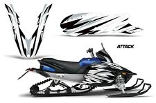 Snowmobile Graphics Kit Decal Sticker Wrap For Yamaha Apex 2011-2018 ATTACK WHT