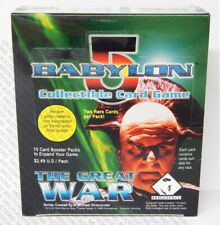 Babylon 5 CCG Great War Edition Booster Box 20 Packs 10 Cards Each Sealed New