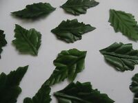 100 SMALL green SILK OAK LEAVES/CRAFTS/DECORATION/WEDDING/AUTUMN/CHRISTMAS