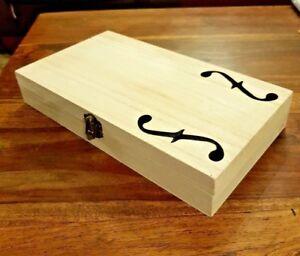 Cigar Box for DIY Project guitar with F holes 28cm x 16cm x 4.5cm