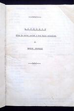 "LOMBROSO:  "" Littorio ""  Commedia inèdita  - 1934  ( Teatro Fascismo Mussolini )"