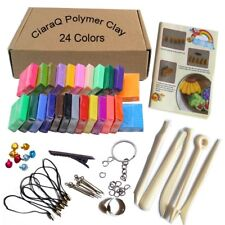 Polymer Clay 24 Colors Oven Bake DIY Colorful Safe and Nontoxic Soft Craft Set