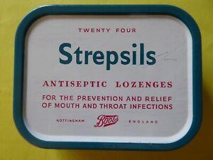 Vintage Strepsils Antiseptic Lozenges Tin