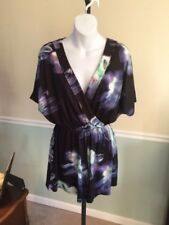 Lioness Purple Short Sleeve Romper NWT! Retail $64 - Small