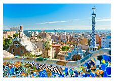 Barcelona City View - Gaudi Architect Iconic Spanish History Art Canvas Pictures
