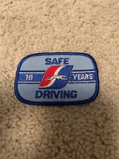 Grayhound 18 Years Safe Driving Patch Gas Oil Advertising