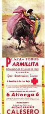 Plaza de Toros Armillita Saltillo July 18 1965 Mexico Long Bullfighting Flier