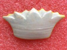 FÈVE Porcelaine OURS COURONNE de ROI REINE