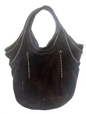 Kooba Tracy Hobo Bag Brown Suede Purse Handbag Studded Straps have issues