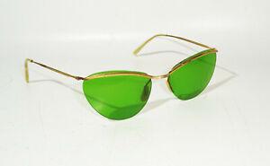 Vintage Gafas de Señora Verde Sol Moda Accesorio Retro Look