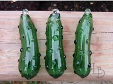 Hand Blown Handmade Glass Christmas German Pickle Ornaments Pennsylvania Dutch