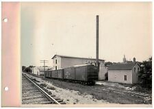 Vintage 1930s  B&W Photo West Bend WI Cannery with Rail  Car's from the North