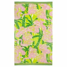 Lilly Pulitzer for Target Beach Pool Towel Fan Dance Pink Flamingo NEW